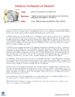 Material Escuelita 040721 -Marcos 6 1-6 (Ciclo B)- 14 Domingo de Tiempo Ordinario. Jesus es rechazado en su tierra